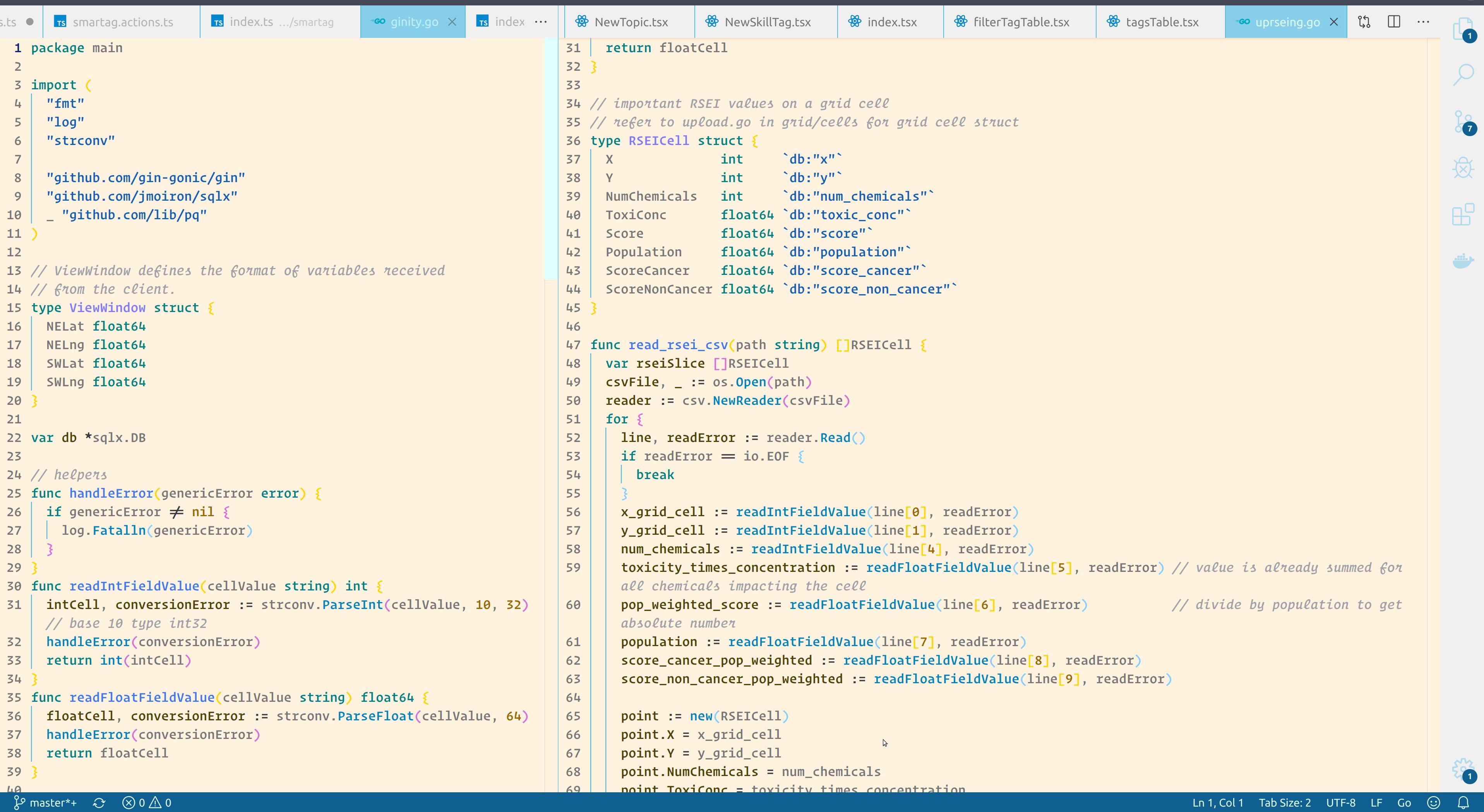 Thakker sky color light theme golang coding programming scheme for go